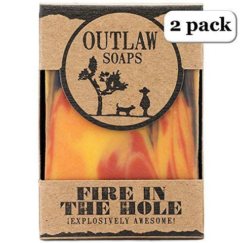 Fire In The Hole Campfire Soap - Explosively Awesome - - Campfire, Gunpowder, And Sagebrush Scented Soap, Just Like A Wild Weekend Camping With Friends - Men'S Or Women'S Bar Soap
