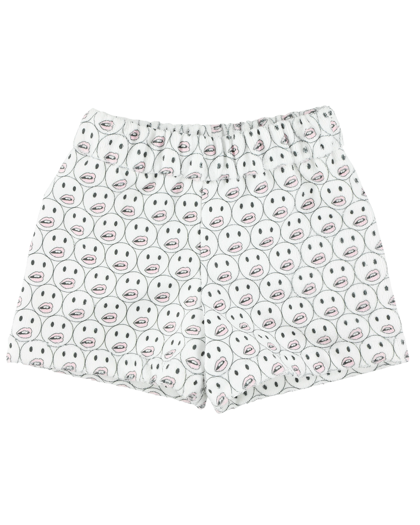 "CAROLINE BOSMANS ""LIFE IS NOT BETTER IN PYJAMAS"" Smiley Terry Shorts"