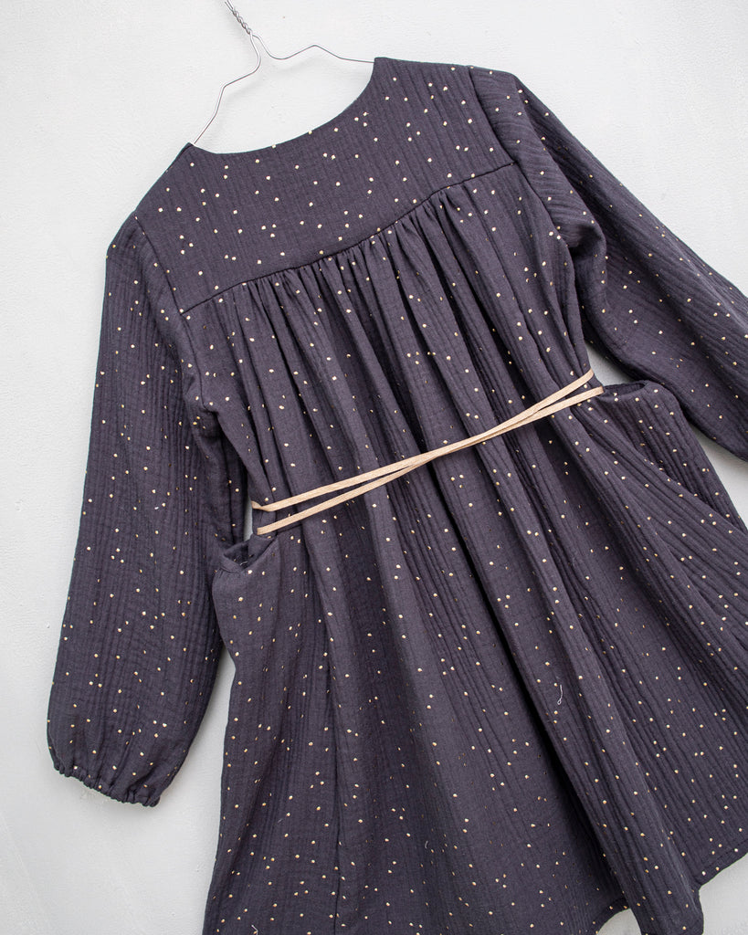 COSMOSOPHIE Leonora Dress in Grey Confetti