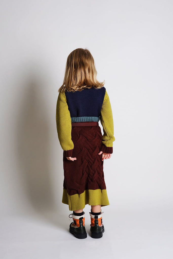 "WOLF AND RITA ""Freedom Blues"" Luis Chunky-Knit Jumper in Brick"