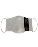 ORGANIC COTTON White Logo Three Layer Mask with Filter Pocket
