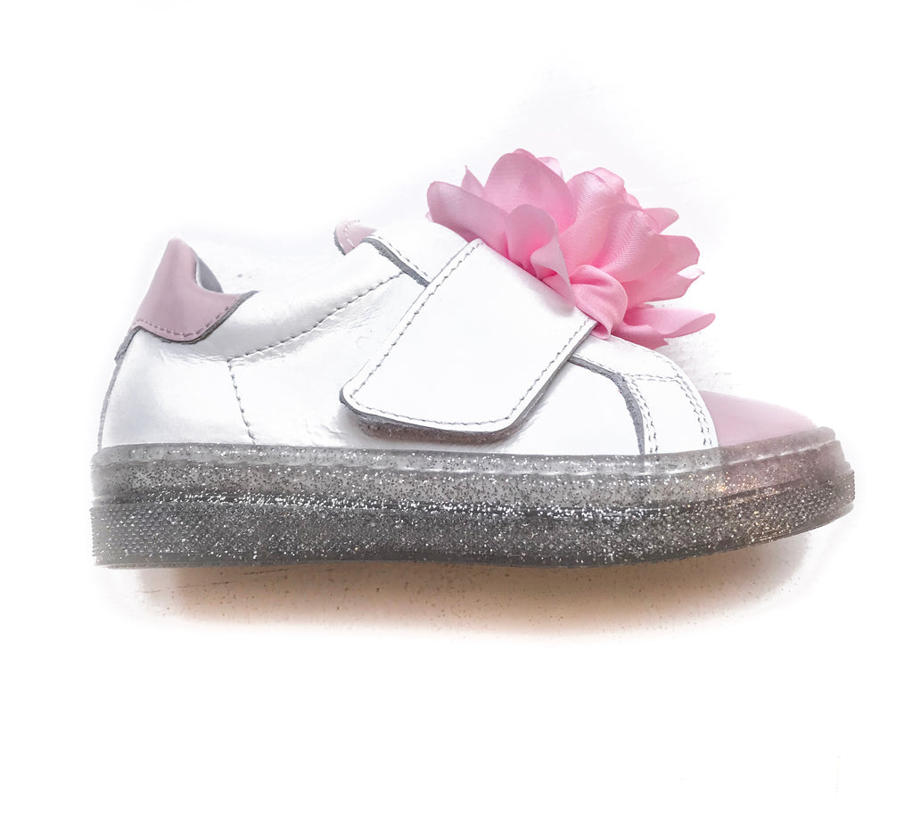MONNALISA Peony Silver Sole Slip On Sneakers Shoes