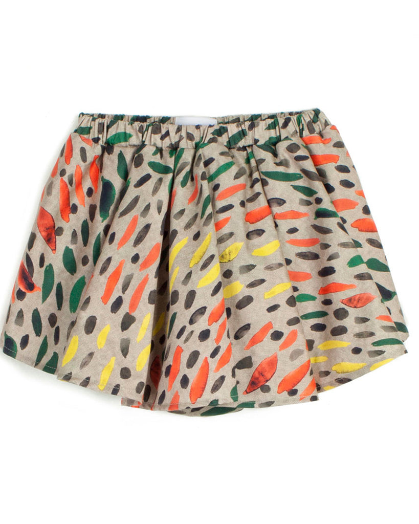 WOLF AND RITA 'Freedom Blues' Luisa Shorts with Attached Skirt in Winter Grass