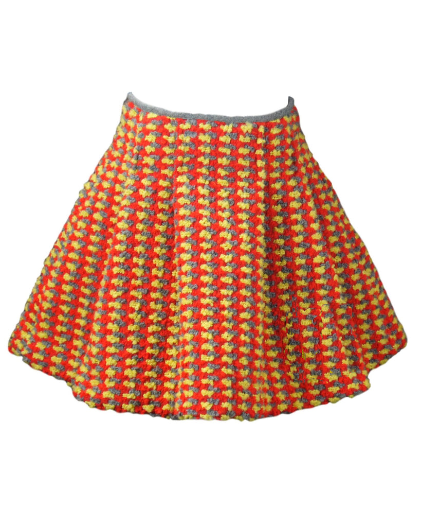 MiMiSol Wool Boucle Mini Knit Circle Skirt