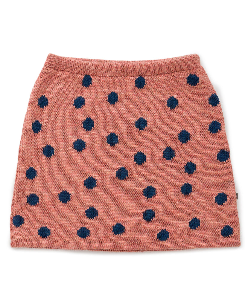 OEUF Alpaca Skirt in Peony and Dots