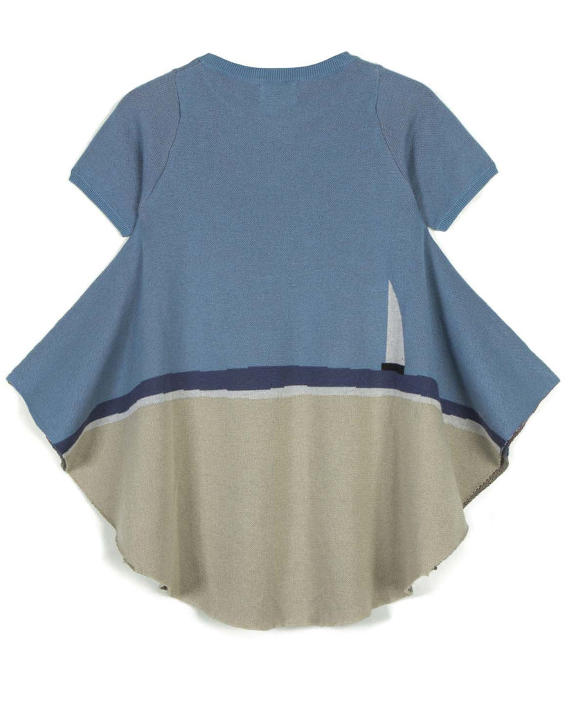 "WOLF AND RITA ""Songbird By Night"" Renata Asymmetrical Knit Top"