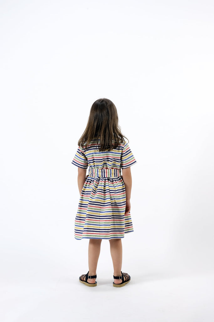 "WOLF AND RITA ""Songbird By Night"" Flavia Stripes Dress"