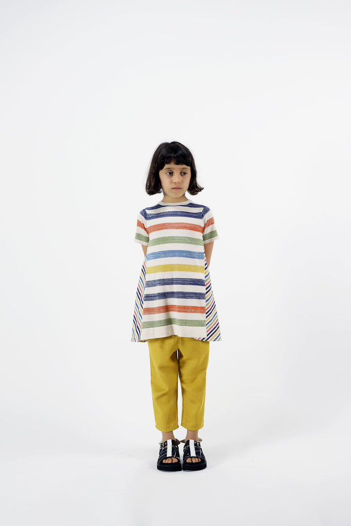"WOLF AND RITA ""Songbird By Night"" Arminda Swing Top in Stripes"