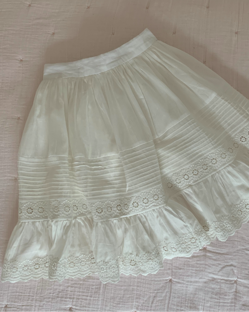 "PETITE AMALIE ""Light As Air"" Victoria Skirt in White"