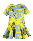 MiMiSol Abstract Print Short Sleeved Dress
