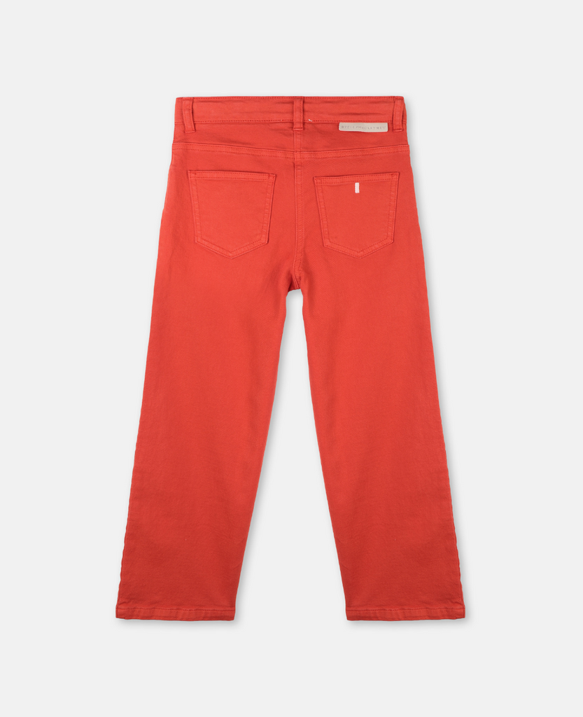 STELLA MCCARTNEY Kids Red Denim Wide Leg Pants
