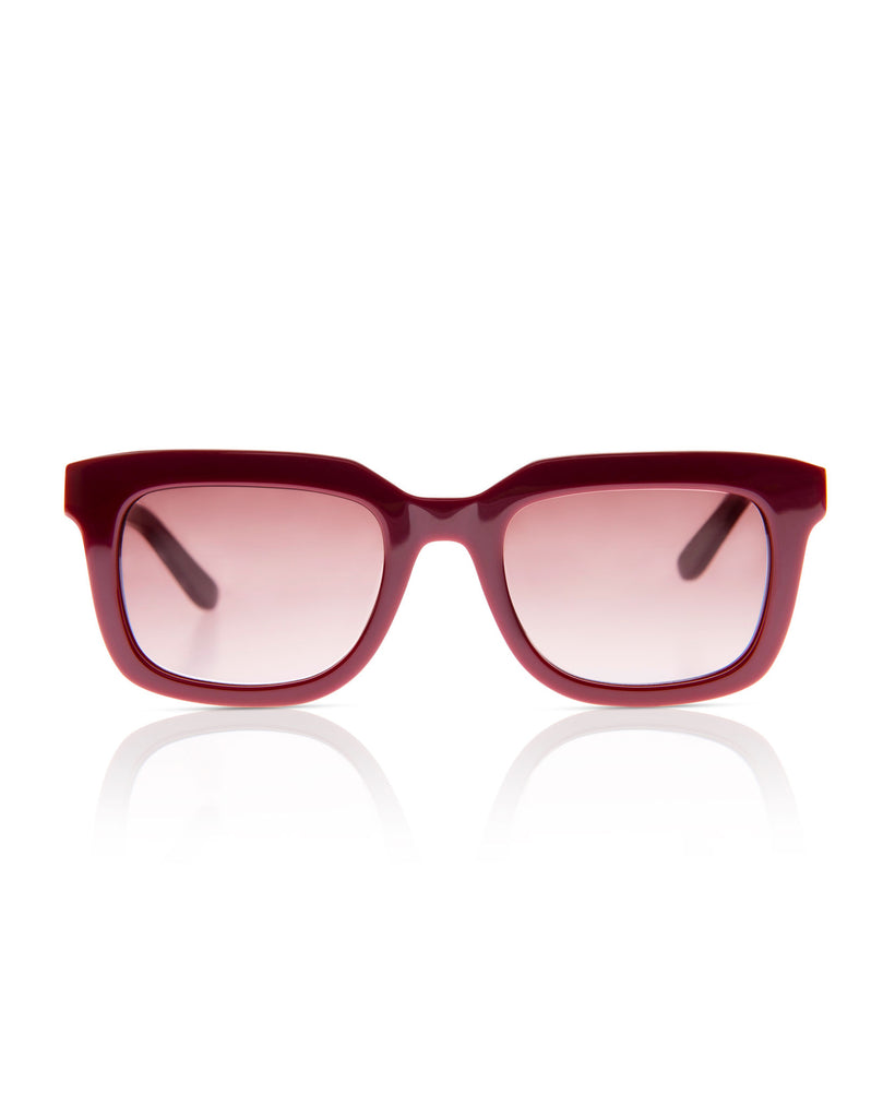 SONS + DAUGHTERS Willy Sunglasses in Bordeaux