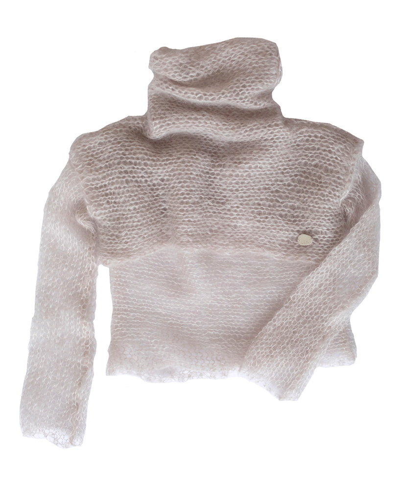 UPA Anges Multi-Layered Hand-Knit Mohair Top