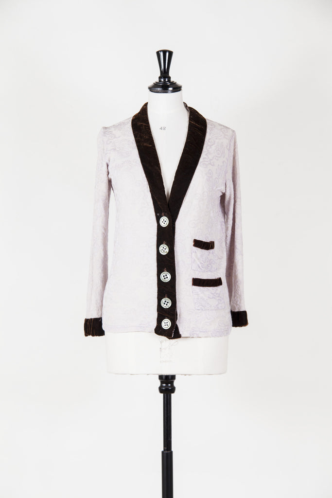 Cardigan with velvet trim by Voyage