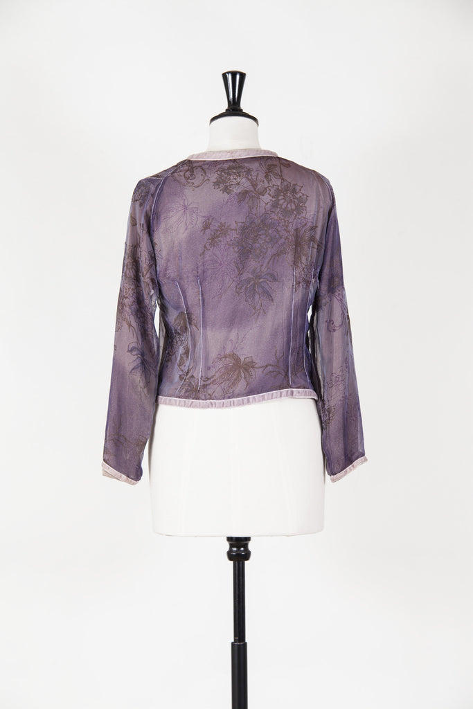 Silk cardigan with glitter lining by Voyage