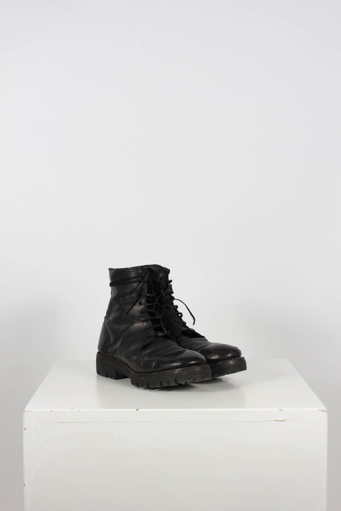 Horse Leather Lacing Boots by Guidi