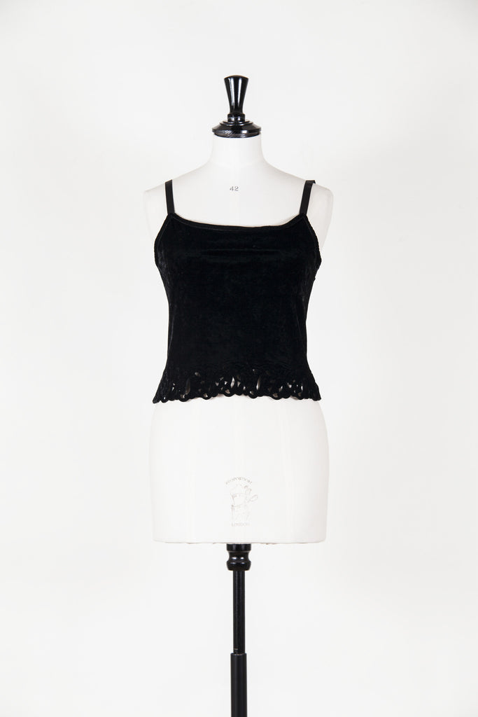 Velvet camisole with cut-out detail by Voyage