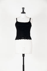 Velvet camisole with cut-out detail by Voyage at Isabella's Wardrobe
