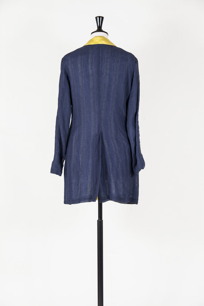 Three-quarter length linen coat by Voyage