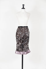 Devore skirt with satin hem by Voyage at Isabella's Wardrobe