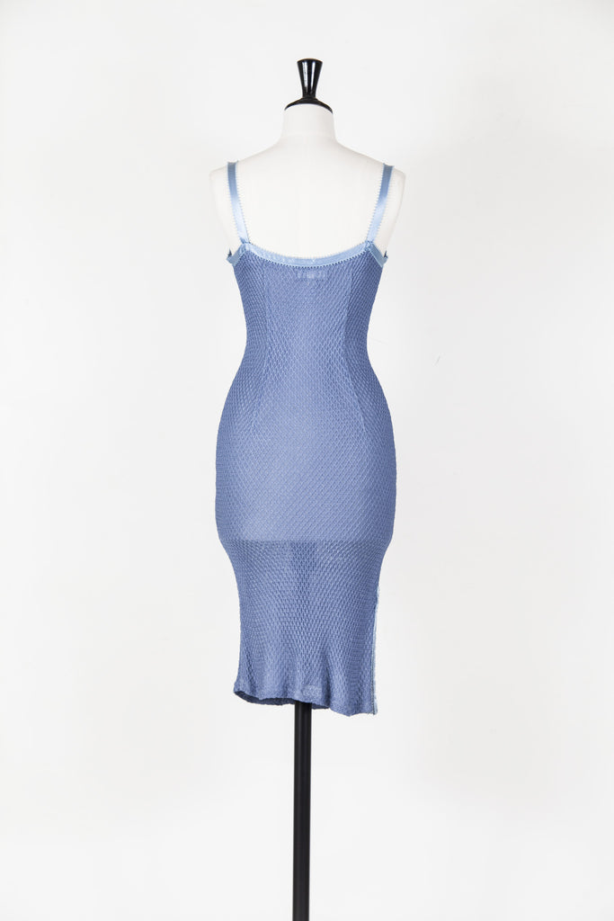 Vest dress with ribbon straps by Voyage
