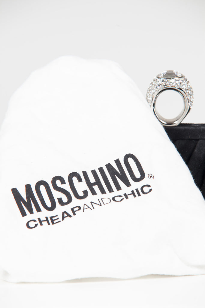 Cocktail ring clutch by Moschino Cheap and Chic
