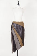 Leather and material panelled skirt by Voyage at Isabella's Wardrobe