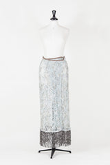Lace wraparound-effect maxi skirt by Voyage at Isabella's Wardrobe