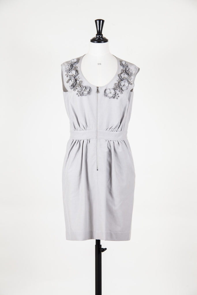 Cotton dress with flower detail by Mulberry