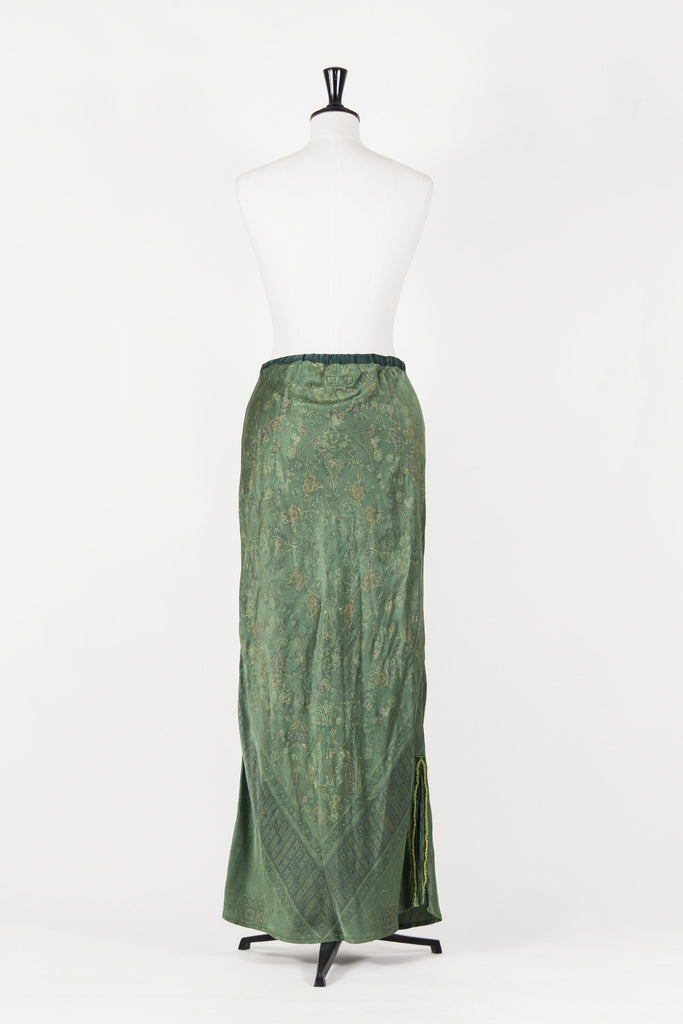 Devore maxi skirt with bead trim by Voyage