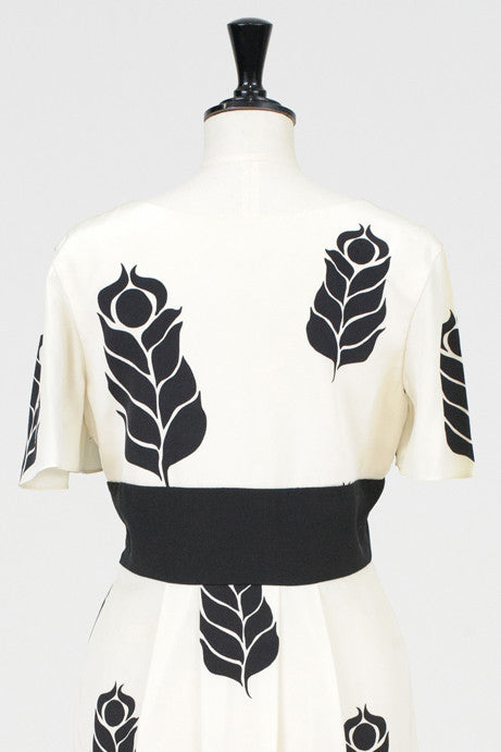Leaf print dress by Temperley