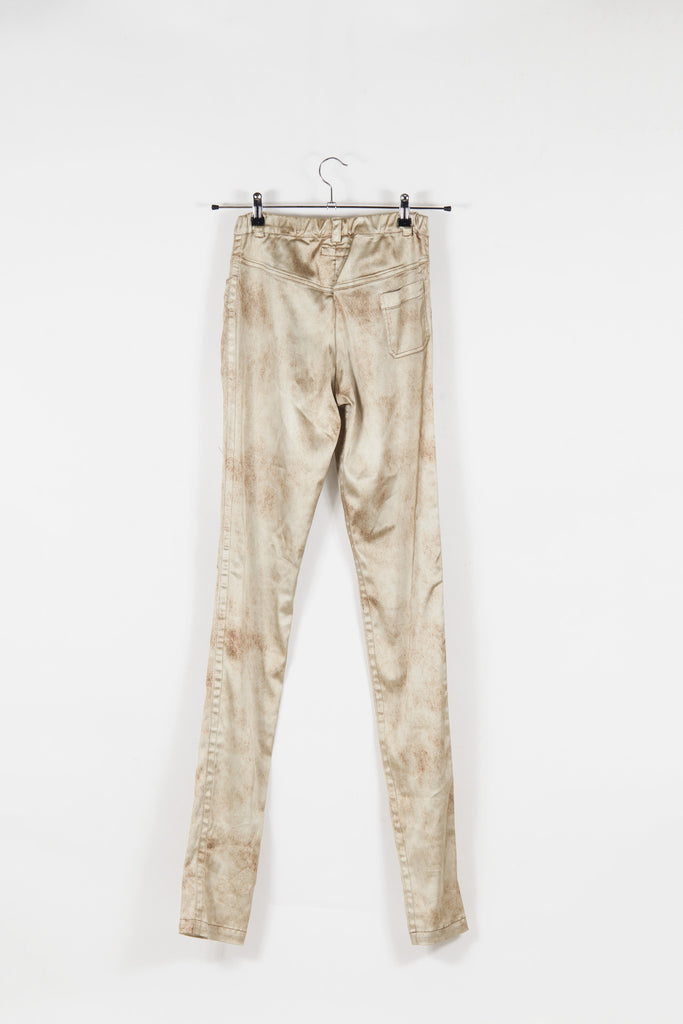 Distressed-effect slim fit trousers by Voyage