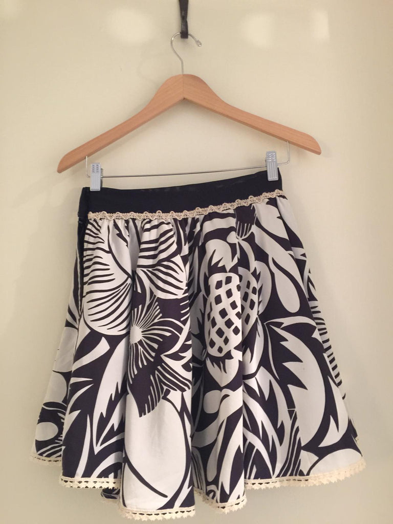 Silk Patterned Skirt by Voyage