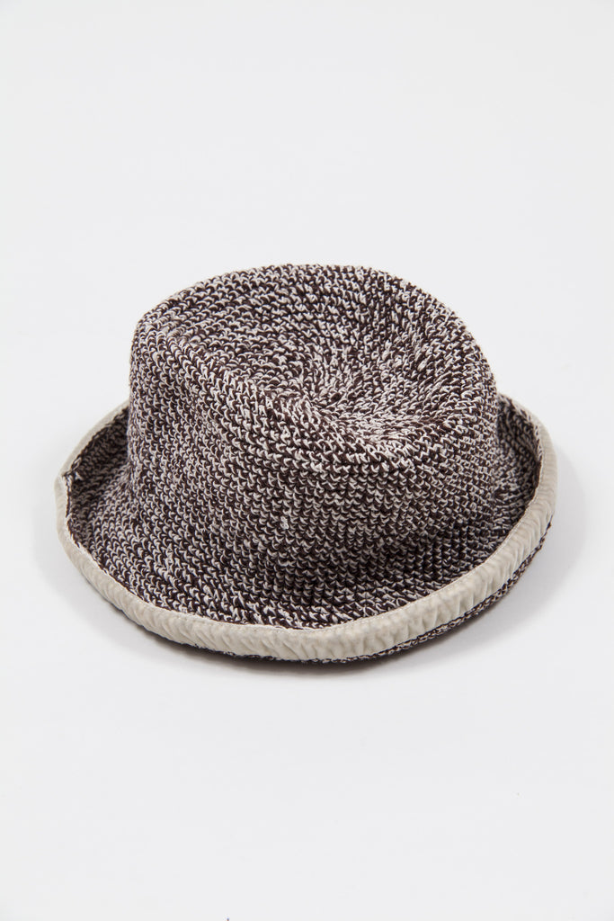 Textured hat with velvet trim by Voyage
