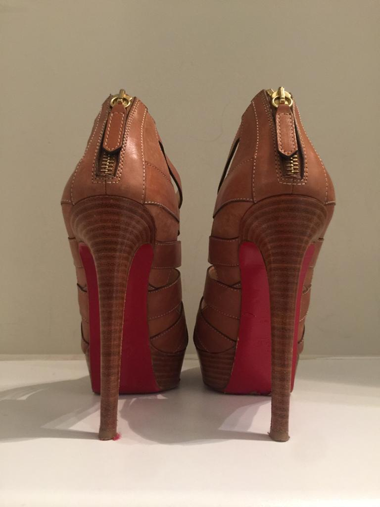 Leather Caged Pumps by Christian Louboutin