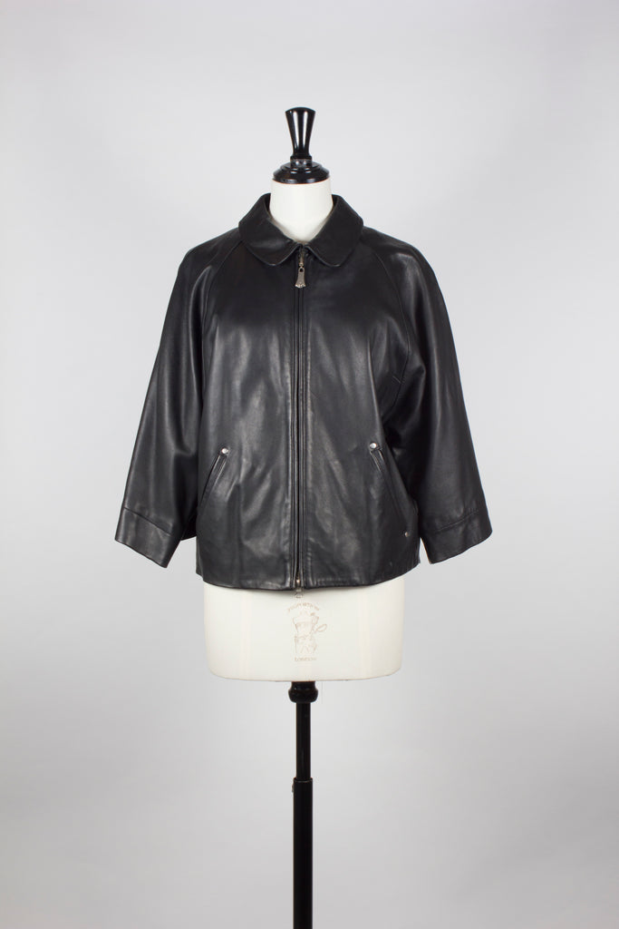 Cropped Sleeve Leather Jacket by Vivienne Westwood