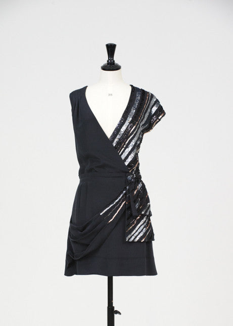 Silver sequinned dress by Marc by Marc Jacobs