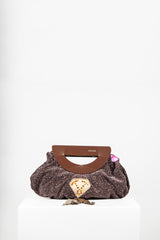 Tweed effect bag with cut-out handles by Voyage at Isabella's Wardrobe