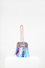 Leather and feather bag by Voyage at Isabella's Wardrobe