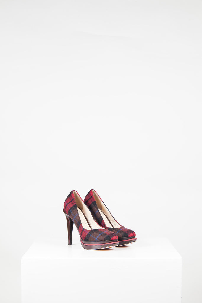 Plaid Chelsea heels by Cole Haan