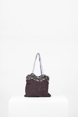 Purple beaded evening bag by Voyage at Isabella's Wardrobe