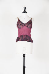 Textured camisole with satin straps by Voyage at Isabella's Wardrobe