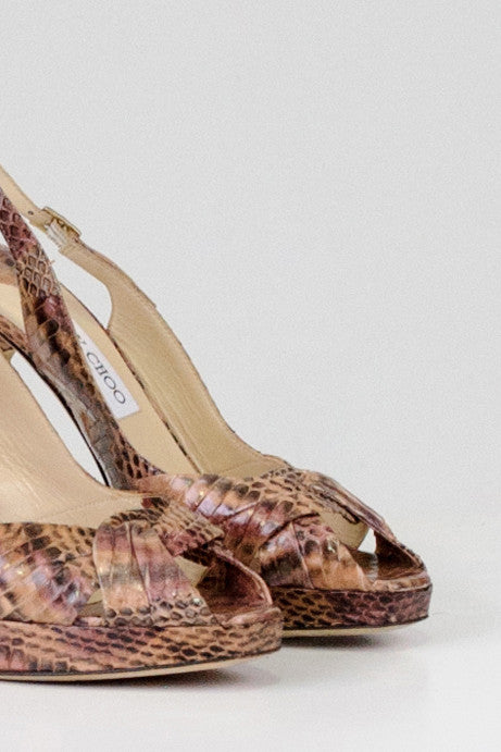 Animal print slingbacks by Jimmy Choo