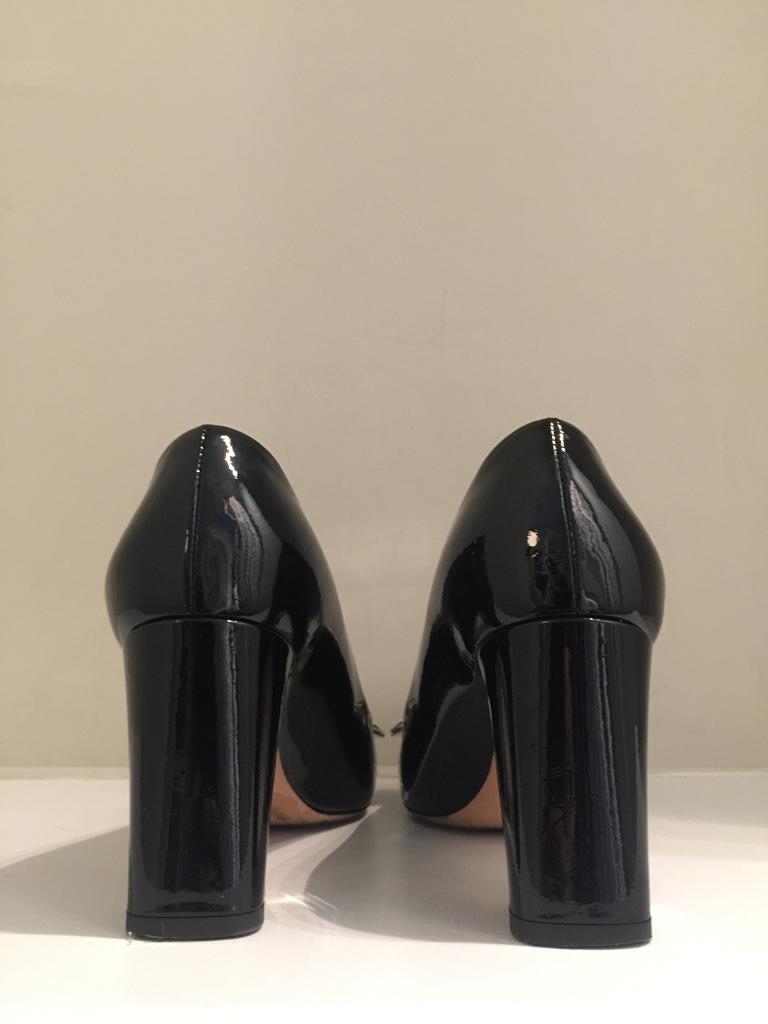 Black Patent Bow Pumps by Louis Vuitton
