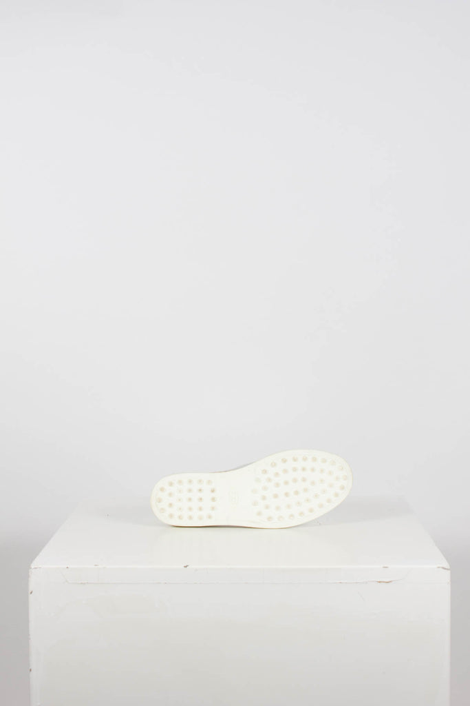 Silver Leather Espadrilles by Tods