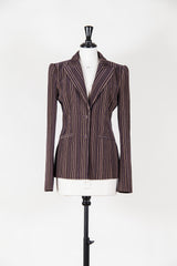 Pinstriped jacket with 60s lining by Voyage at Isabella's Wardrobe