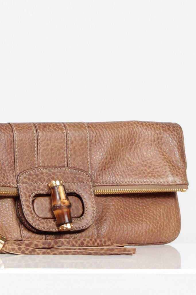 Bamboo Tassel Clutch by Gucci