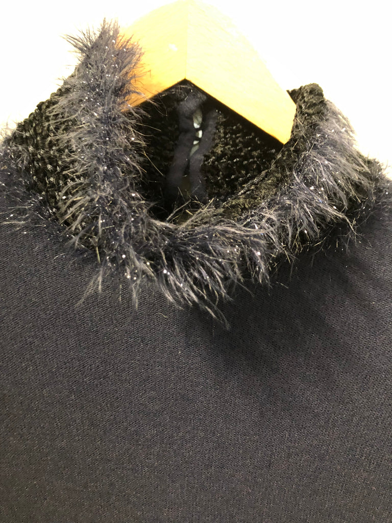 Fluffy Chenille Trimmed Sweater by Emporio Armani