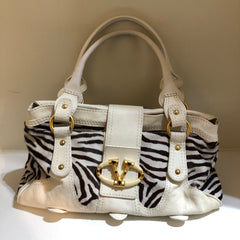 Zebra Ponyskin Catch Shoulder Bag by Valentino at Isabella's Wardrobe