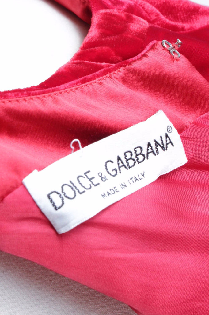 Red Carpet Velvet Maxi Dress by Dolce & Gabbana